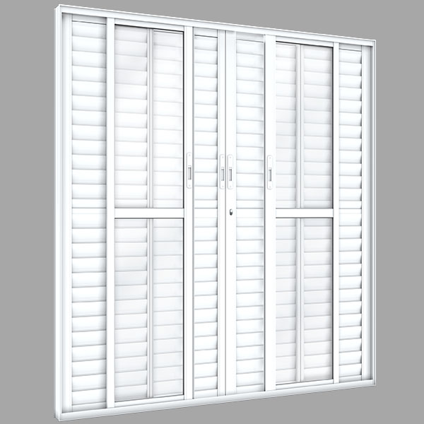 Porta Balcão 6 Folhas – Alumínio Plus - Machado – Portas e Janelas de Aço e Alumínio