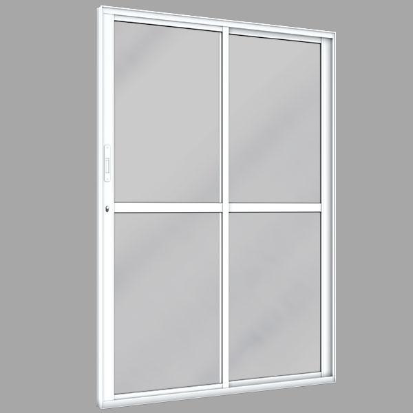 porta-de-correr-vidro-liso-2-folhas-aluminio-plus