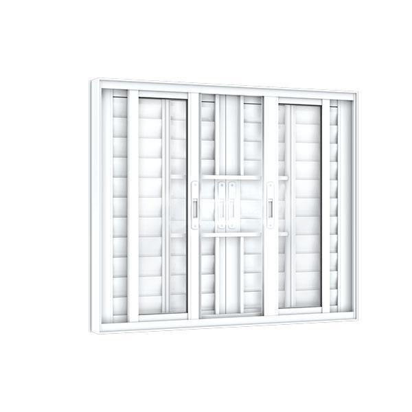 Veneziana 6 Folhas com Grade – Alumínio Plus - Machado – Portas e Janelas de Aço e Alumínio