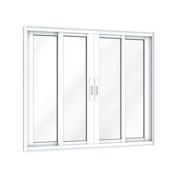 Vitro 4 Folhas sem Grade – Alumínio Plus - Machado – Portas e Janelas de Aço e Alumínio
